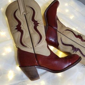 Vintage rare frye cowboy boots size 7.5